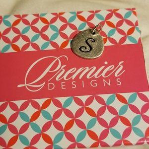 """Premier Designs letter """"S"""" Charm"""